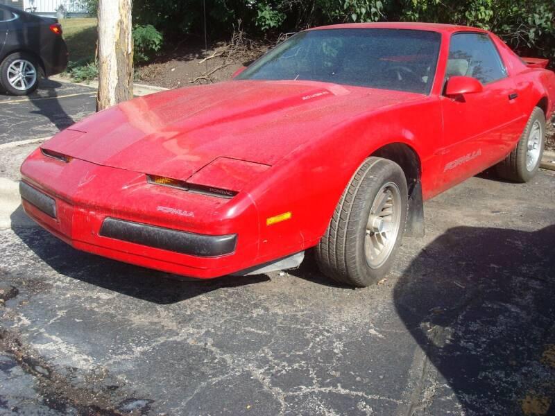 1989 Pontiac Firebird for sale at Naperville Auto Haus Classic Cars in Naperville IL