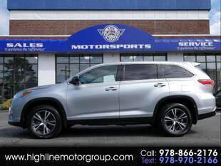 2019 Toyota Highlander for sale at Highline Group Motorsports in Lowell MA