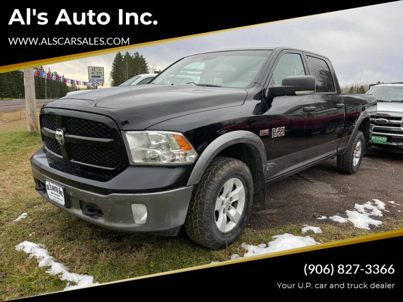 2013 RAM Ram Pickup 1500 for sale at Al's Auto Inc. in Bruce Crossing MI
