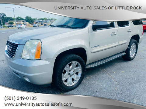 2007 GMC Yukon for sale at University Auto Sales of Little Rock in Little Rock AR