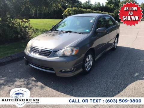 2006 Toyota Corolla for sale at Auto Brokers Unlimited in Derry NH