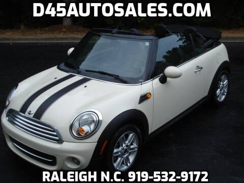 2014 MINI Convertible for sale at D45 Auto Brokers in Raleigh NC