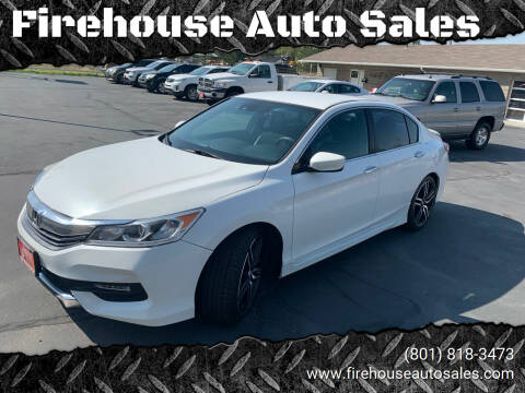 2016 Honda Accord for sale at Firehouse Auto Sales in Springville UT