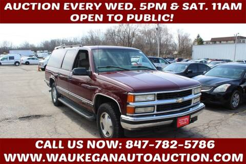 1999 Chevrolet Suburban for sale at Waukegan Auto Auction in Waukegan IL
