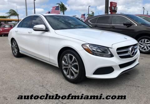 2016 Mercedes-Benz C-Class for sale at AUTO CLUB OF MIAMI in Miami FL