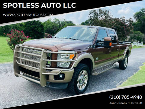 2011 Ford F-350 Super Duty for sale at SPOTLESS AUTO LLC in San Antonio TX