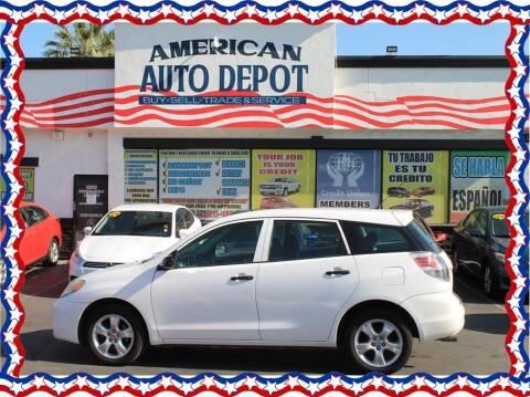 2007 Toyota Matrix for sale at American Auto Depot in Modesto CA