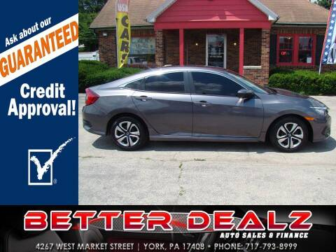 2018 Honda Civic for sale at Better Dealz Auto Sales & Finance in York PA