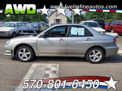 2006 Subaru Impreza for sale at FUELIN FINE AUTO SALES INC in Saylorsburg PA