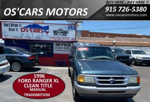 1996 Ford Ranger for sale at Os'Cars Motors in El Paso TX