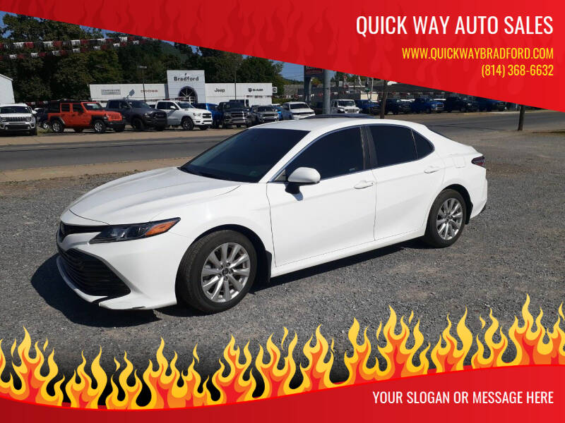 2018 Toyota Camry for sale at QUICK WAY AUTO SALES in Bradford PA