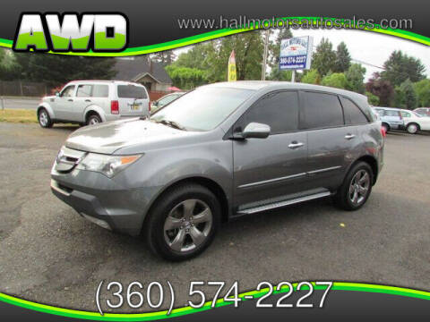 2008 Acura MDX for sale at Hall Motors LLC in Vancouver WA