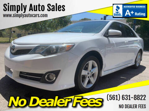 2014 Toyota Camry for sale at Simply Auto Sales in Palm Beach Gardens FL