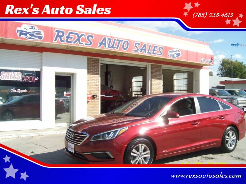 2016 Hyundai Sonata for sale at Rex's Auto Sales in Junction City KS