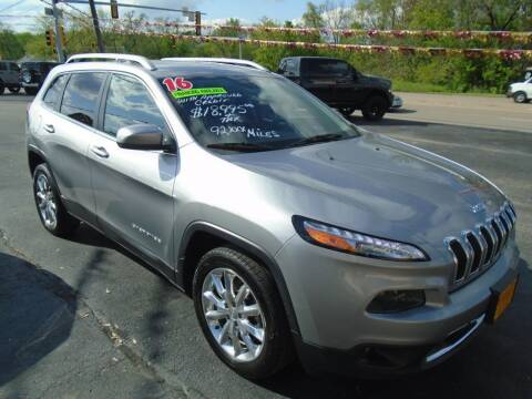 2016 Jeep Cherokee for sale at River City Auto Sales in Cottage Hills IL