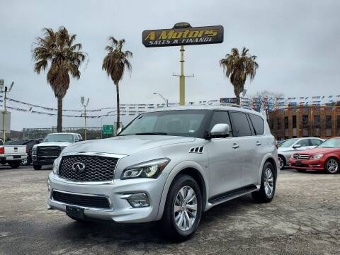 2016 Infiniti QX80 for sale at A MOTORS SALES AND FINANCE - 5630 San Pedro Ave in San Antonio TX