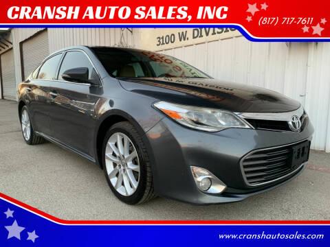 2013 Toyota Avalon for sale at CRANSH AUTO SALES, INC in Arlington TX