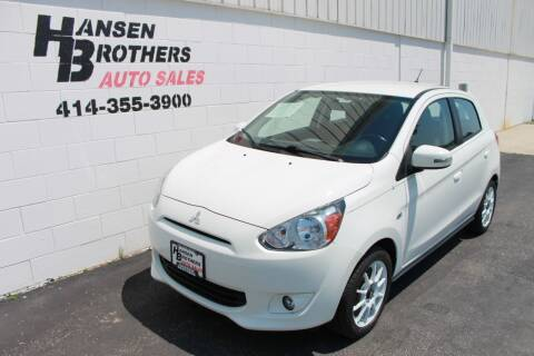 2015 Mitsubishi Mirage for sale at HANSEN BROTHERS AUTO SALES in Milwaukee WI