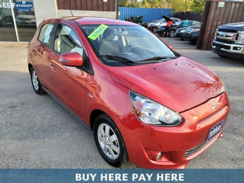 2015 Mitsubishi Mirage for sale at Stanley Direct Auto in Mesquite TX