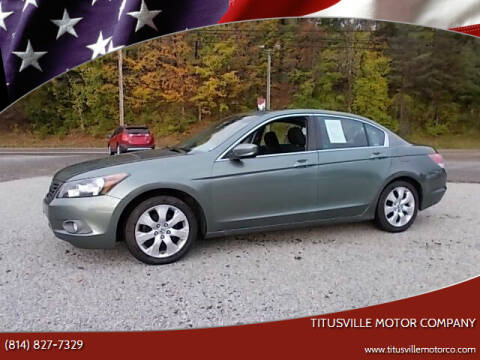 2008 Honda Accord for sale at Titusville Motor Company in Titusville PA