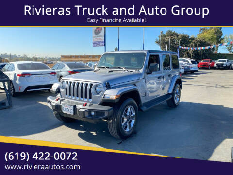 2019 Jeep Wrangler Unlimited for sale at Rivieras Truck and Auto Group in Chula Vista CA