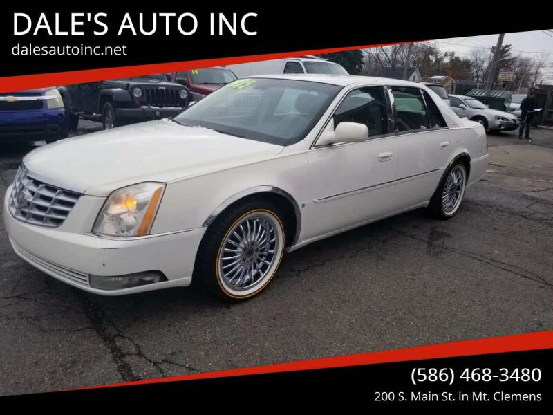 2007 Cadillac DTS for sale at DALE'S AUTO INC in Mt Clemens MI