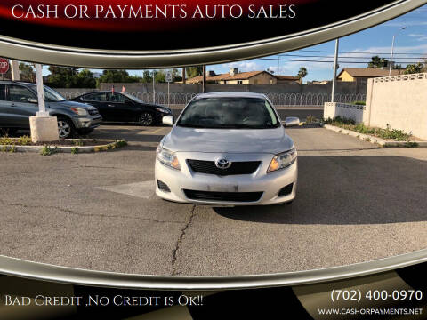 2010 Toyota Corolla for sale at CASH OR PAYMENTS AUTO SALES in Las Vegas NV