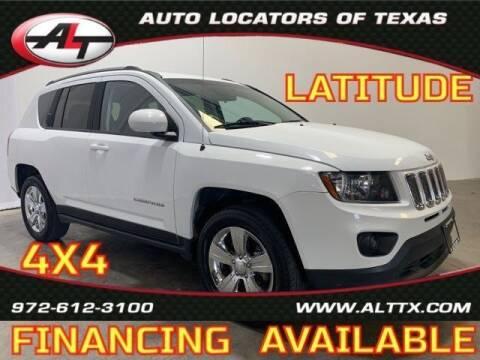 2015 Jeep Compass for sale at AUTO LOCATORS OF TEXAS in Plano TX