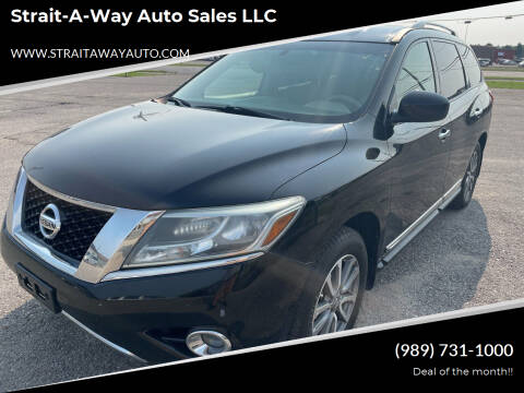 2014 Nissan Pathfinder for sale at Strait-A-Way Auto Sales LLC in Gaylord MI
