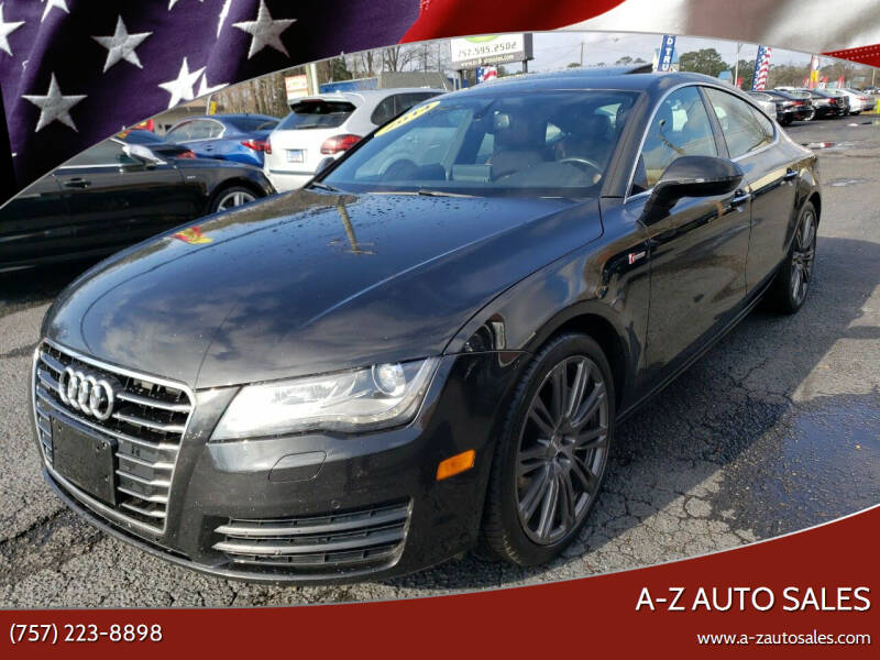 2014 Audi A7 for sale at A-Z Auto Sales in Newport News VA