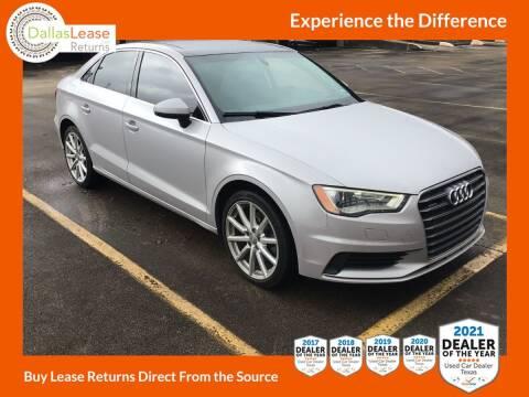 2015 Audi A3 for sale at Dallas Auto Finance in Dallas TX