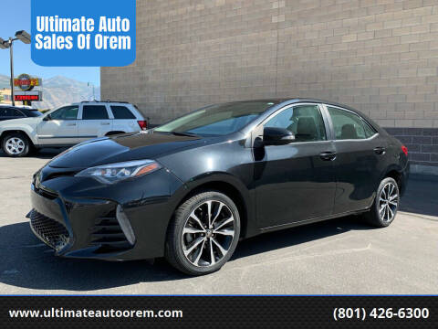 2017 Toyota Corolla for sale at Ultimate Auto Sales Of Orem in Orem UT
