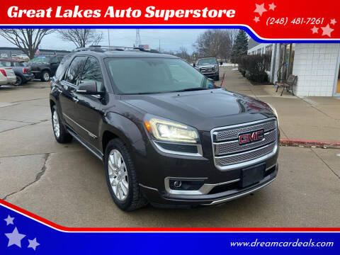2015 GMC Acadia for sale at Great Lakes Auto Superstore in Pontiac MI