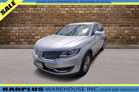 2016 Lincoln MKX for sale at Karplus Warehouse in Pacoima CA