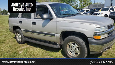2005 Chevrolet Tahoe for sale at Jeffreys Auto Resale, Inc in Clinton Township MI