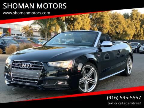2013 Audi S5 for sale at SHOMAN AUTO GROUP in Davis CA