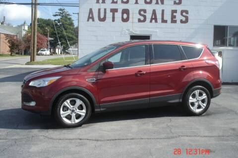2016 Ford Escape for sale at Weston's Auto Sales, Inc in Crewe VA