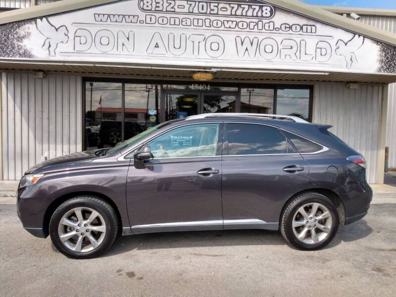 2010 Lexus RX 350 for sale at Don Auto World in Houston TX