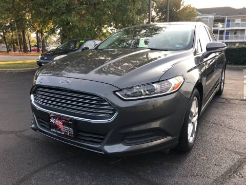 2014 Ford Fusion for sale at Mike's Auto Sales INC in Chesapeake VA