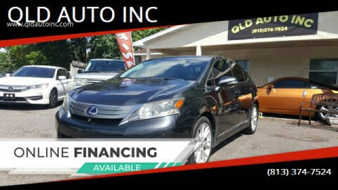 2010 Lexus HS 250h for sale at QLD AUTO INC in Tampa FL