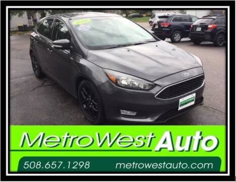 2016 Ford Focus for sale at Metro West Auto in Bellingham MA