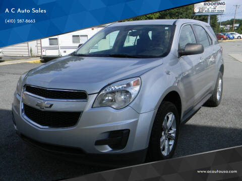 2011 Chevrolet Equinox for sale at A C Auto Sales in Elkton MD