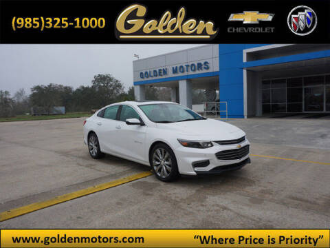 2017 Chevrolet Malibu for sale at GOLDEN MOTORS in Cut Off LA