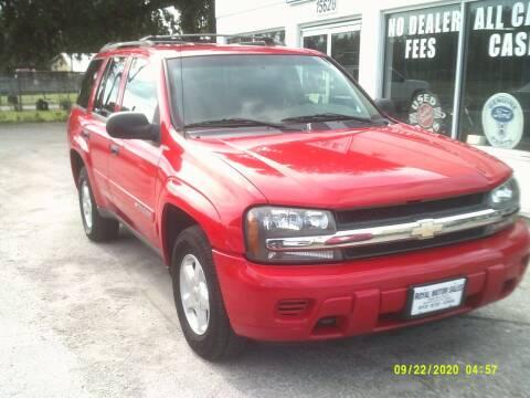 2002 Chevrolet TrailBlazer for sale at ROYAL MOTOR SALES LLC in Dover FL
