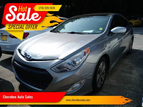 2015 Hyundai Sonata Hybrid for sale at Cherokee Auto Sales in Acworth GA