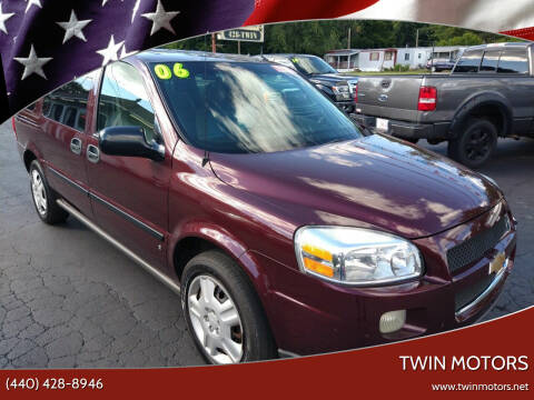 2006 Chevrolet Uplander for sale at TWIN MOTORS in Madison OH