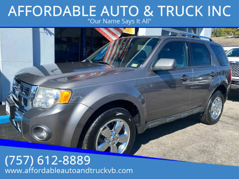 2012 Ford Escape for sale at AFFORDABLE AUTO & TRUCK INC in Virginia Beach VA