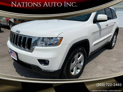 2011 Jeep Grand Cherokee for sale at Nations Auto Inc. in Denver CO