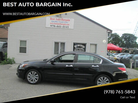 2012 Honda Accord for sale at BEST AUTO BARGAIN inc. in Lowell MA