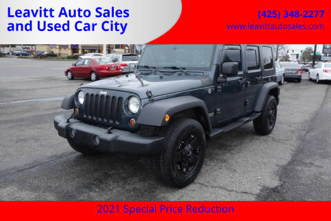 2007 Jeep Wrangler Unlimited for sale at Leavitt Auto Sales and Used Car City in Everett WA